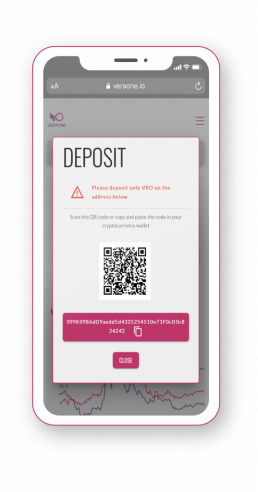 Deposit feature VRO app