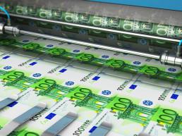 Printing of 100€ banknotes